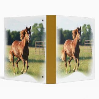 Carpeta galopante del caballo