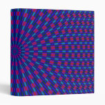 Carpeta geométrica azul y roja de los círculos