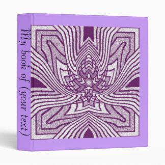 Carpeta geométrica de Lotus de la lavanda