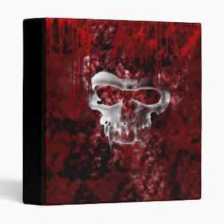Carpeta gótica del Grunge de los cráneos del vampi