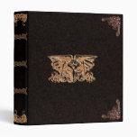 Carpeta gótica elegante de oro de Gryphon