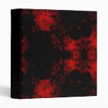 Carpeta gótica pintada del vampiro rojo