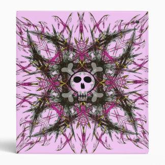 Carpeta gótica rosada del fractal 3-Ring del cráne
