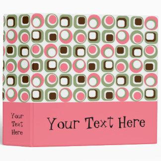 Carpeta gráfica retra rosada