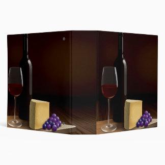 Carpeta grande de la receta con el vino y el queso