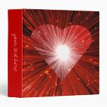 """Carpeta grande de """"su texto"""" del corazón rojo"""