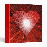 Carpeta grande del corazón rojo