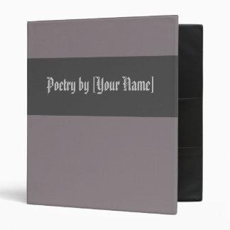 Carpeta gris de la poesía del diamante