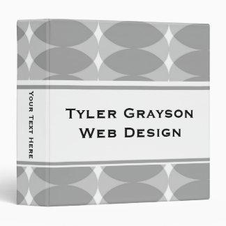 "Carpeta gris moderna 1,5"" del modelo de los"