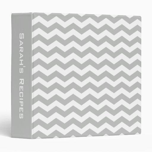 Carpeta gris personalizada de la receta de Chevron