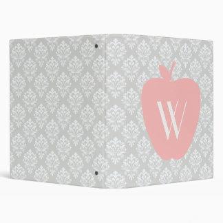 Carpeta gris rosada del damasco de Apple para los