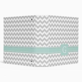 Carpeta gris y blanca elegante de Avery del monogr