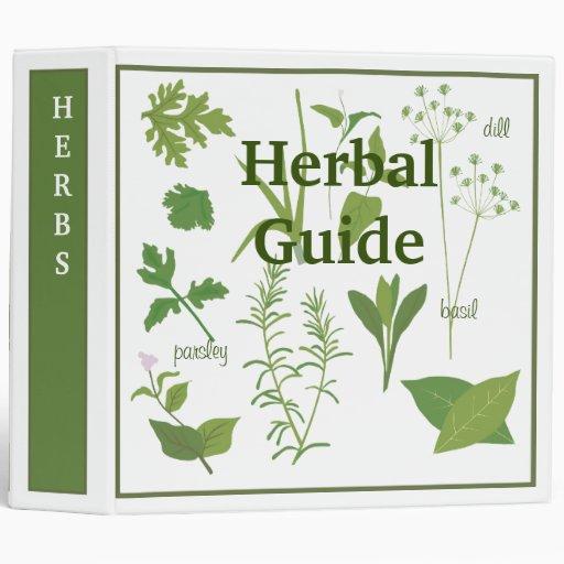Carpeta herbaria de la receta de la guía