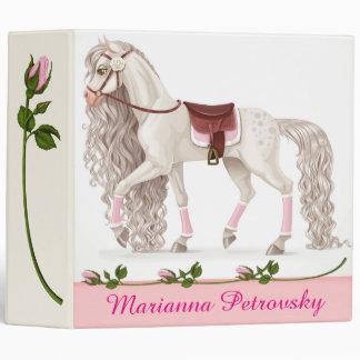 Carpeta hermosa del caballo blanco