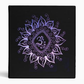 Carpeta hindú del símbolo de la alheña