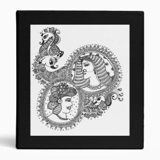 Carpeta india nupcial del mehndi de la alheña
