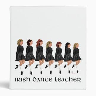 Carpeta irlandesa del profesor de la danza del