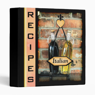 Carpeta italiana de encargo de las recetas
