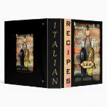 Carpeta italiana de encargo de las recetas - medio