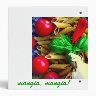 Carpeta italiana de la receta