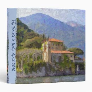 Carpeta italiana del viaje y de la receta