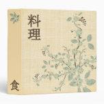 Carpeta japonesa de la receta
