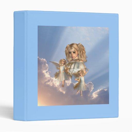 Carpeta joven de los ángeles