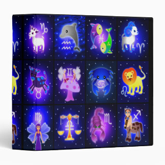 """Carpeta linda 1,5"""" de los caracteres del zodiaco"""