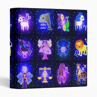 """Carpeta linda 1"""" de los caracteres del zodiaco"""