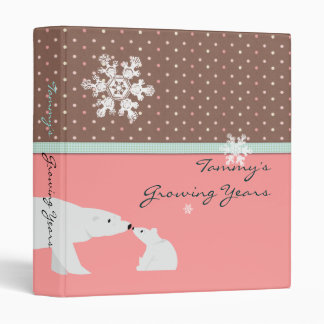 Carpeta linda con los osos polares -
