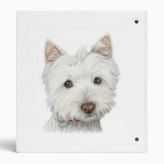 Carpeta linda de Avery del perro de Westie