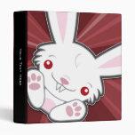 Carpeta linda de Kawaii del conejo de conejito del