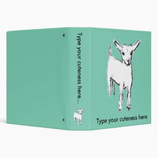Carpeta linda de la cabra
