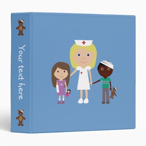 Carpeta linda de la enfermera y de los niños