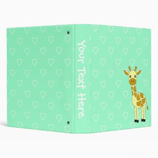 Carpeta linda de la escuela de la jirafa