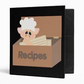 Carpeta linda de la receta del cerdo