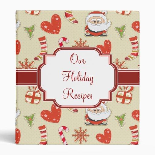 Carpeta linda de la receta del navidad