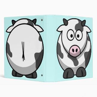 Carpeta linda de la vaca