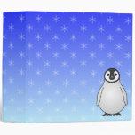 Carpeta linda del azul del copo de nieve del pingü