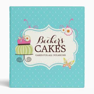 Carpeta linda del panadero de la torta