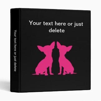 Carpeta linda del perro rosado de la chihuahua ál