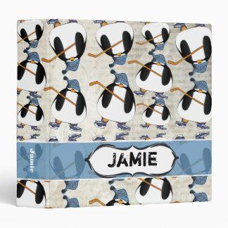 Carpeta linda y divertida del modelo del pingüino