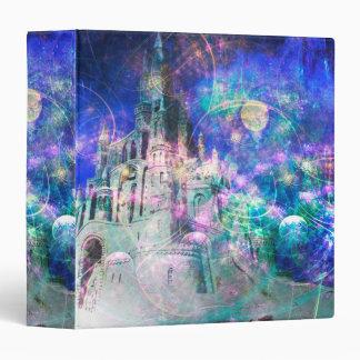 Carpeta mágica bonita del castillo de la fantasía