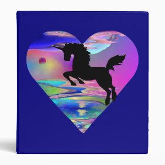 Carpeta magnífica del arte del unicornio de