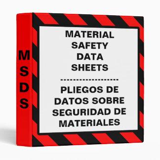 Carpeta material de la hoja de datos de la segurid