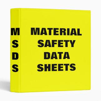Carpeta material de las hojas de datos de la segur