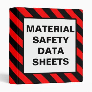 Carpeta material del rojo de las hojas de datos de