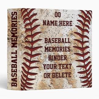 Carpeta mayor del béisbol de los regalos de la