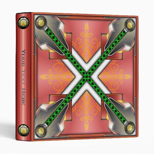 Carpeta metálica de alta tecnología futurista