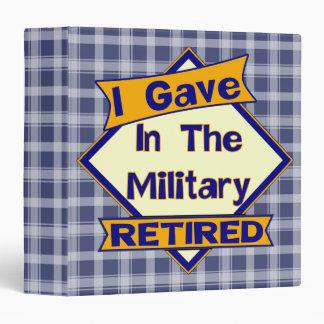 Carpeta militar de Avery del retiro